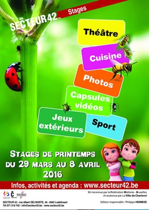 STAGES DE PRINTEMPS 2016