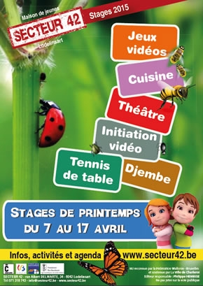 STAGES DE PRINTEMPS 2015